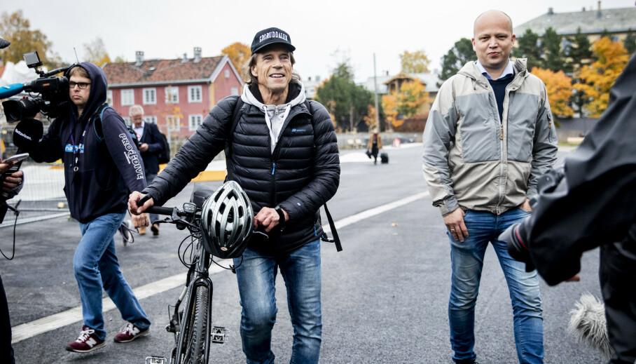 NYTT PARTI: Jan Bøhler har nå blitt politiker for Senterpartiet. Her er han avbildet med Sp-leder Trygve Slagsvold Vedum da nyheten ble kjent forrige uke. Foto: Christian Roth Christensen / Dagbladet