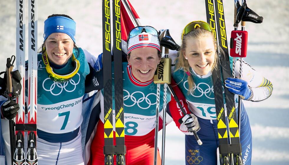 DRØMTE SEG BORT: Stina Nilsson fullførte et enormt OL i Pyeongchang med OL-bronse på tremila etter å ha vunnet gull på sprinten. Samtidig gikk tankene til skiskytterarenaen allerede da, forteller hun nå. oto: Bjørn Langsem / Dagbladet