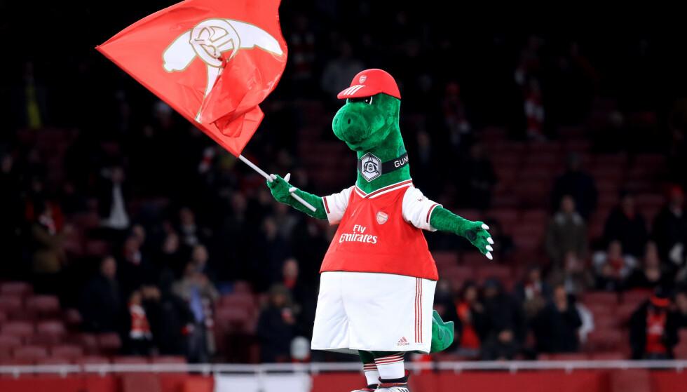 <strong>POPULÆR:</strong> Gunnersaurus har vært en del av Arsenal i 27 år. Foto: NTB