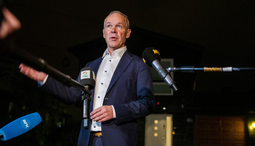 PERSPEKTIVMELDINGEN: Finansminister Jan Tore Sanner la fredag fram Perspektivmeldingen. Foto: Terje Pedersen / NTB