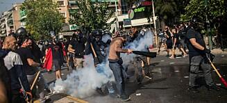 Voldsomme opptøyer i Aten
