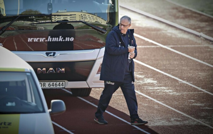 <strong>DAGEN DERPÅ:</strong> Lars Lagerbäck og Norge trente på Bislett stadion dagen etter fadesen mot Serbia. Foto: Bjørn Langsem / Dagbladet