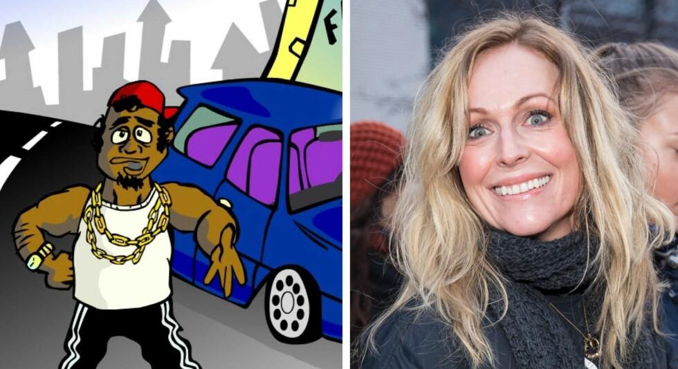 FORSVINNER: 31. desember forsvinner Mujaffa-spillet fra nettet. Det er helt OK, mener Marte Stokstad - som spilte rollen som «blondine» i spillet. Kollasj: 1001spill / Tor Lindseth / Se og Hør