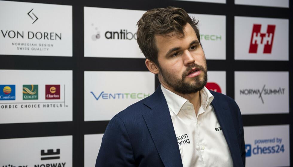 <strong>TAP:</strong> Magnus Carlsen, her etter Norway Chess 2020 i Stavanger. Foto: Carina Johansen / NTB