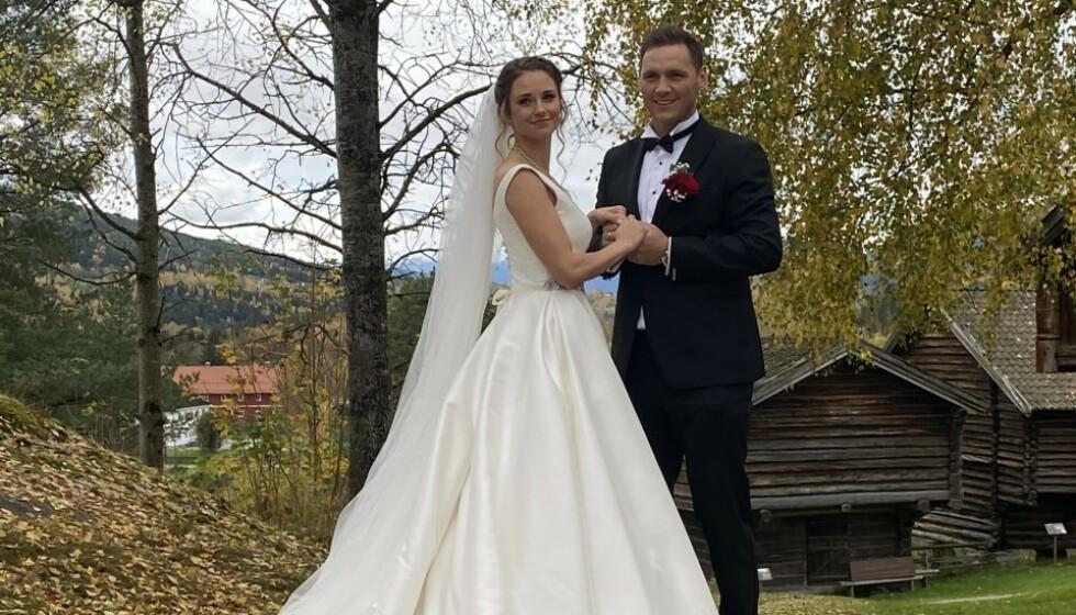 <strong>GIFT:</strong> I går giftet håndballstjerna Joakim Hykkerud seg med Camilla Groth. Foto: Privat