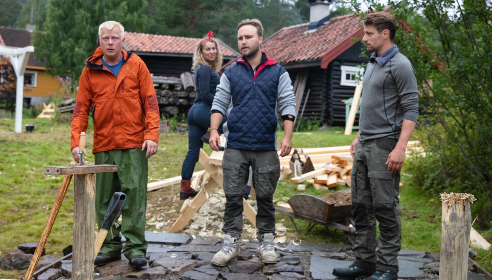 <strong>INNRØMMER REGELBRUDD:</strong> Flere deltakere Dagbladet har snakket med, deriblant Kjetil Kirk (i midten) forteller at han var med på hyttebesøkene. Foto: Alex Iversen / TV 2