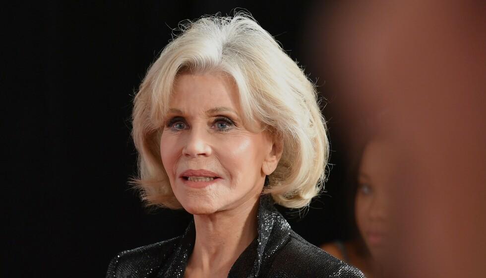 ÅPNER OPP: Den amerikanske skuespilleren Jane Fonda er kjent for sine artige og treffende uttalelser. Nå har 82-åringen valgt å åpne seg om sexlivet sitt, eller mangelen på sådan. Her er hun fotografert i fjor. Foto: Angela Weiss / AFP, NTB