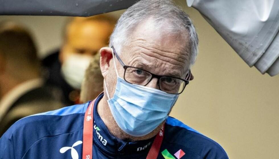 SVINGNINGER: Lars Lagerbäck og Norge møter Nord-Irland på Ullevaal i kveld. Start: 20.45. Foto: Bjørn Langsem