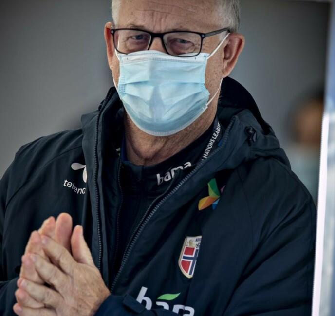 <strong>TRØBBEL:</strong> Lars Lagerbäck har vært en spesialist på å få landslag til sluttspill. Med Norge har det ikke gått like knirkefritt. Foto: Bjørn Langsem