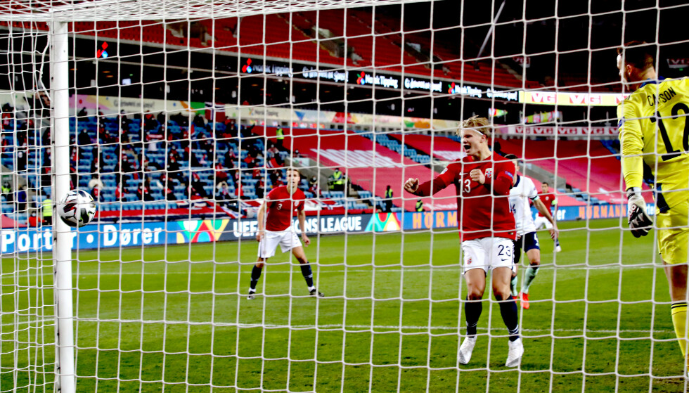 <strong>MÅL ER MÅL:</strong> Nord-Irlands Stuart Dallas scoret seiersmålet for Norge der det meste kladdet på Ullevaal. Det ga Norge tre viktig poeng i Nations League. Men det økte ikke troen på gruppeseier. Snarere tvert imot. Foto: Bjørn Langsem / Dagbladet