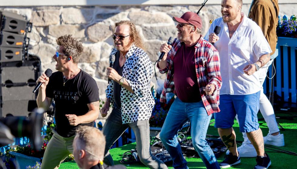 NYOPPSTARTET: Bandet bestående av Stian Staysman Thorbjørnsen, Rune Rudberg, Lars Erik Blokkhus og Dag Ingebrigtsen, er klare for sin første konsert i januar. Foto: Thomas Andersen / TV 2