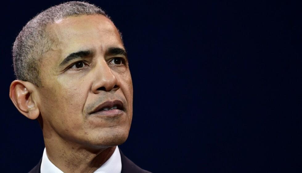 OBAMA-TEORI: USAs president Donald Trump videreformidlet en spinnvill konspirasjonsteori om forhenværende president Barack Obama onsdag som ryster både eksperter og velgere. Foto: AFP / NTB