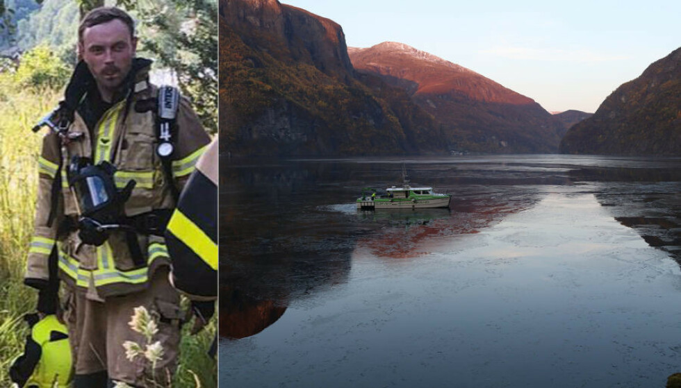 <strong>SAVNET:</strong> Torsdag lette en undervannsfarkost fra Bergen etter Christoffer Lysne Elgåen i Aurlandsfjorden. Foto: Arne Veum / Aurlendingen