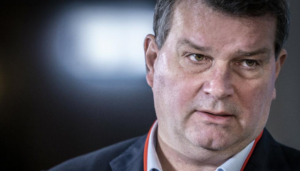 FÅTT NOK: LO-sjef Hans-Christian Gabrielsen trodde ikke sine egne øyne da han leste Erna Solbergs intervju med Dagbladet. Foto: Ole Berg-Rusten / NTB