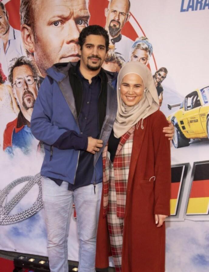 <strong>GIFT:</strong> Iman Meskini og Mourad Jarrari giftet seg sommeren 2019. Her er ekteparet på filmpremiere i Oslo tidligere i oktober. Foto: Tor Lindseth / Se og Hør