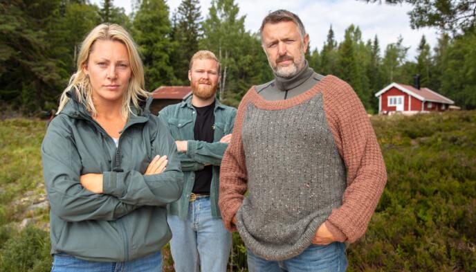 IKKE ENIG: Karianne, Mathias og Olav Harald er ikke enig i kritikken fra «Farmen»-deltakeren. Foto: Alex Iversen / TV 2