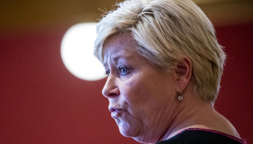FRP VS SP: Dette kan bli en av de mest interessante partiduellene fram mot det stortingsvalget neste høst. En duell som kan avgjøre valget. Foto: Terje Pedersen / NTB