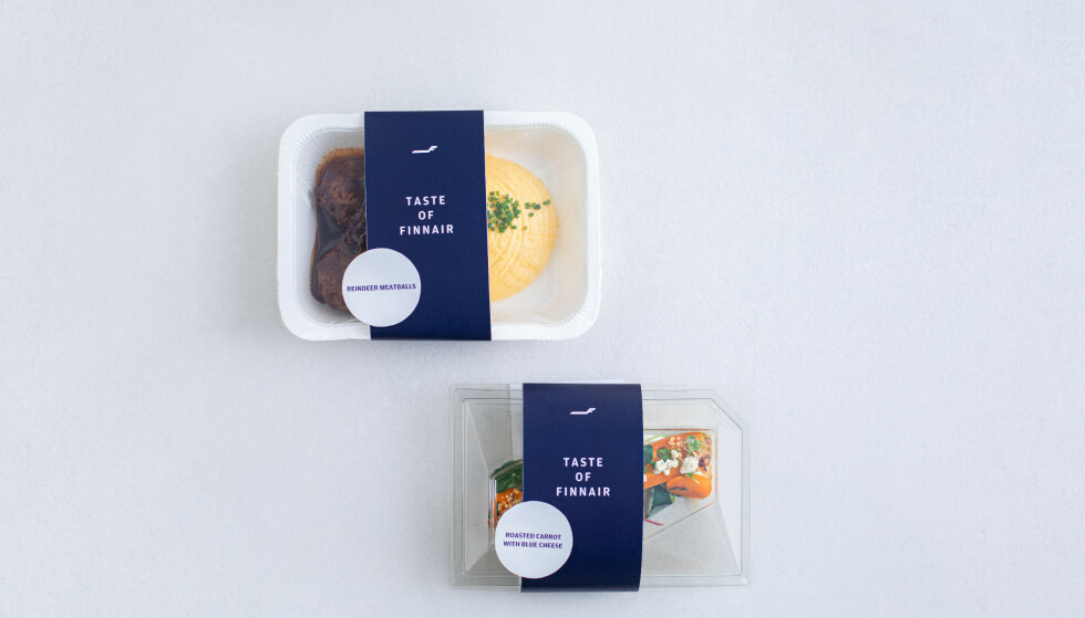 FLYMAT PÅ MATBUTIKKEN: Det finske flyselskapet Finnair har begynt å selge flymat som ferdigmat på matbutikken. Foto: Finnair