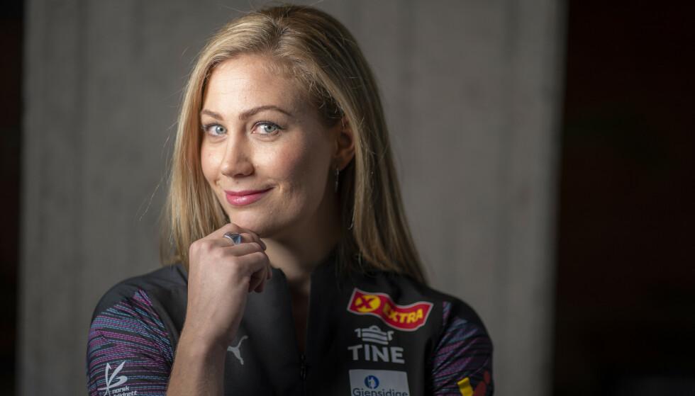UREDD: Dobbelt juniorverdensmester og friidrettsess Isabelle Pedersen er ikke redd for å ytre meningene sine. Foto: Heiko Junge / NTB
