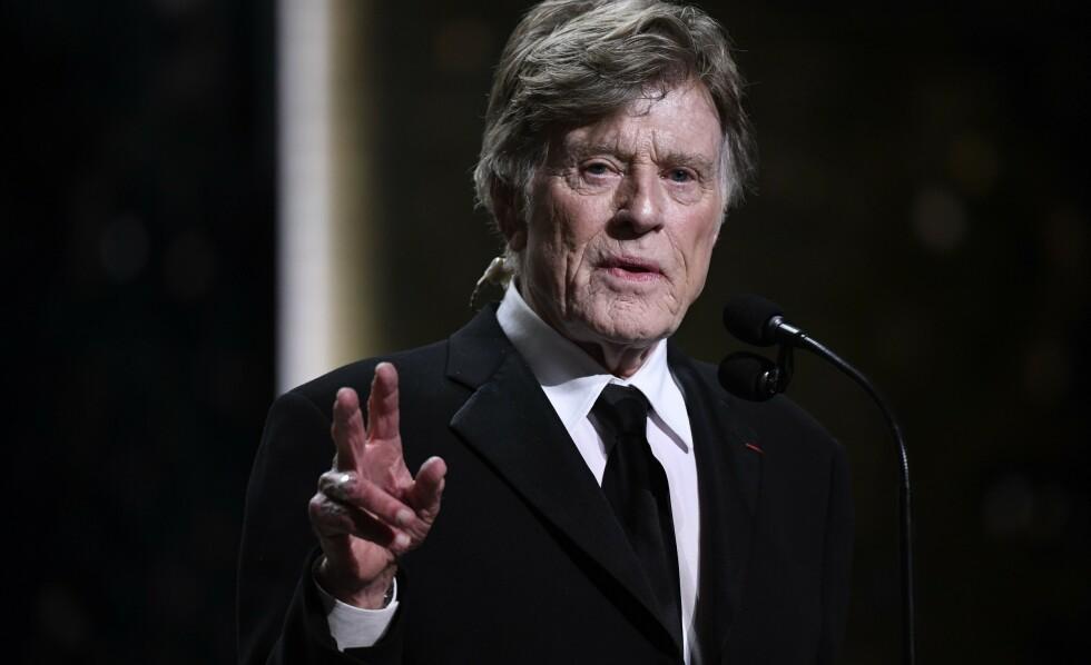 I SORG: Hollywood-stjerna Robert Redford sørger over tapet av sønnen James Redford. Foto: Bertrand Guay / AFP / NTB