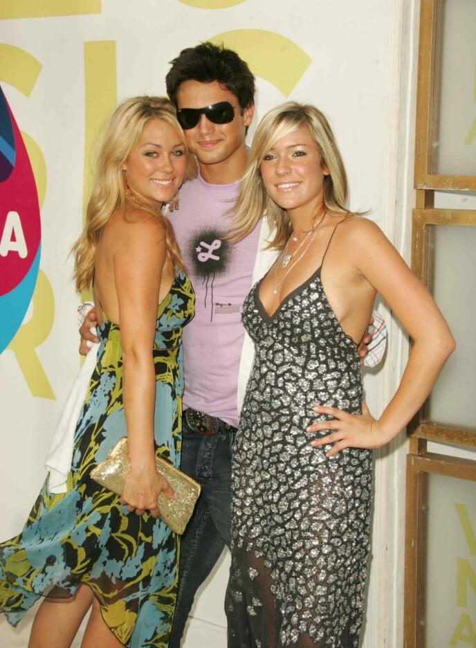 DEN GANG DA: Kristin (til høyre) sammen med Stephen og Lauren Conrad under MTV Video Music Awards i Miami i 2005. Foto: Matt Baron / BEI / REX / NTB