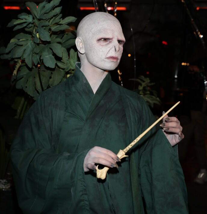 VOLDEMORT: Jorun Stiansen fikk stor oppmerksomhet for sitt kostyme som «Harry Potter» -karakteren Voldemort. Foto: Andreas Fadum / Se og Hør