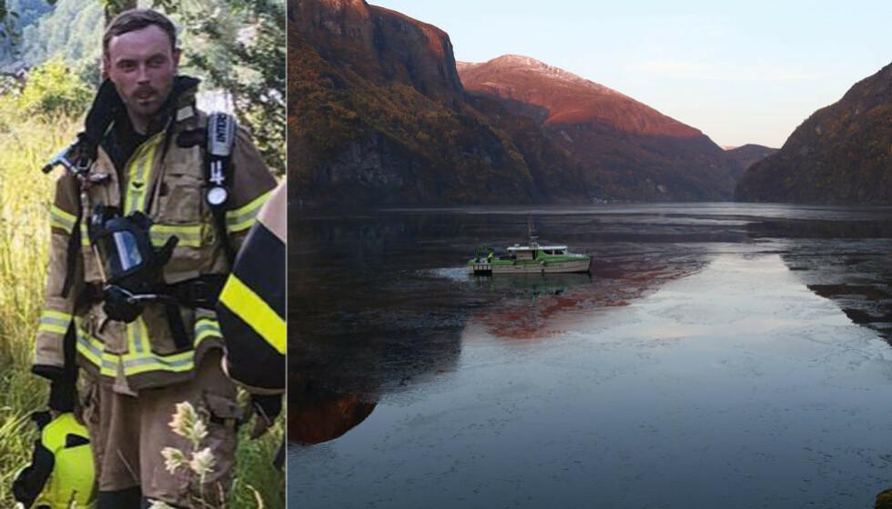 DYP FJORD: En undervannsfarkost fra Bergen leter etter Christoffer Lysne Elgåen i Aurlandsfjorden. Nå ber politiet om ytterligere hjelp fra Forsvaret til å finkjemme fjordbunnen. Foto: Arne Veum / Aurlendingen