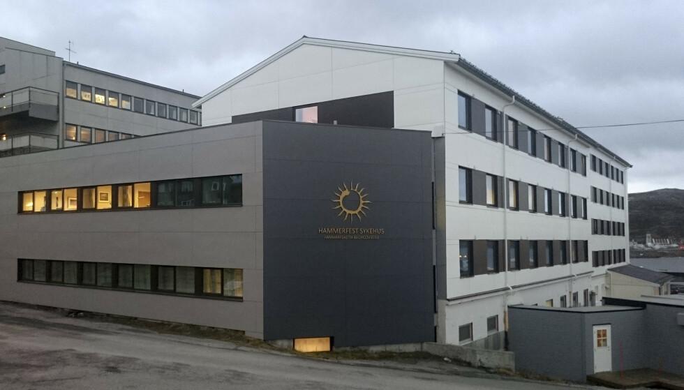 UTBRUDD: Hammerfest sykehus er rammet av et coronavirusutbrudd. Foto: Finnmarkssykehuset / NTB