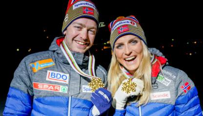 DISTANSE-ESS: Sjur Røthe og Therese Johaug har herjet i distanselangrenn de siste sesongene. Foto: Fredrik Hagen / NTB