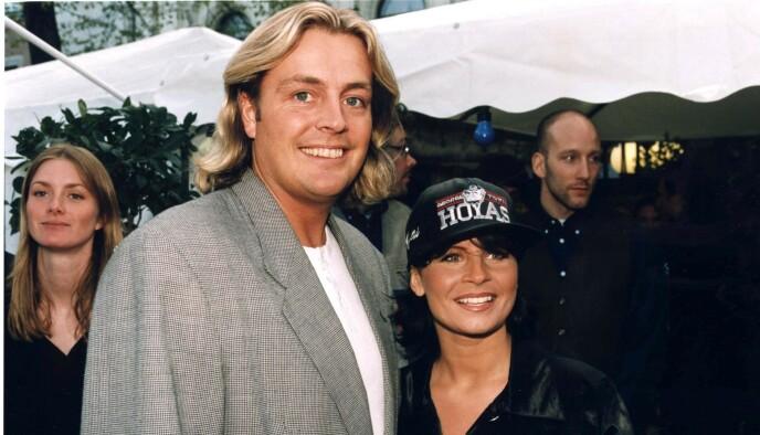 GALLIONSFIGURENE: Runar Søgaard og Carola Häggkvist i 1997. Foto: NTB