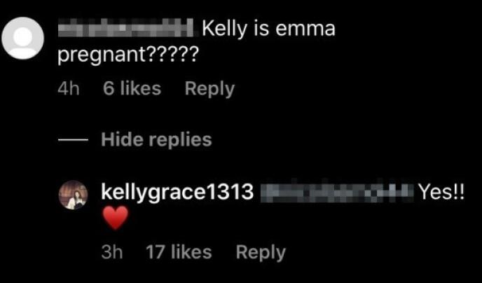 BEKREFTET: Emma Roberts mor var kjapp til å bekrefte nyheten om at dattera venter sitt første barn. Foto: Skjermdump fra Instagram