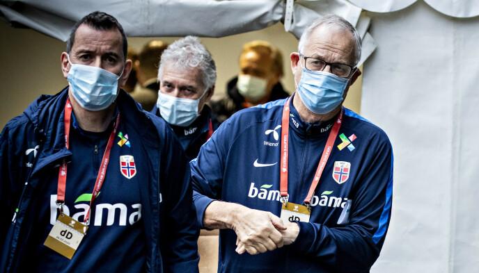 TURBULENS: Per Joar Hansen (t.v.) og Lars Lagerbäck. Foto: Bjørn Langsem