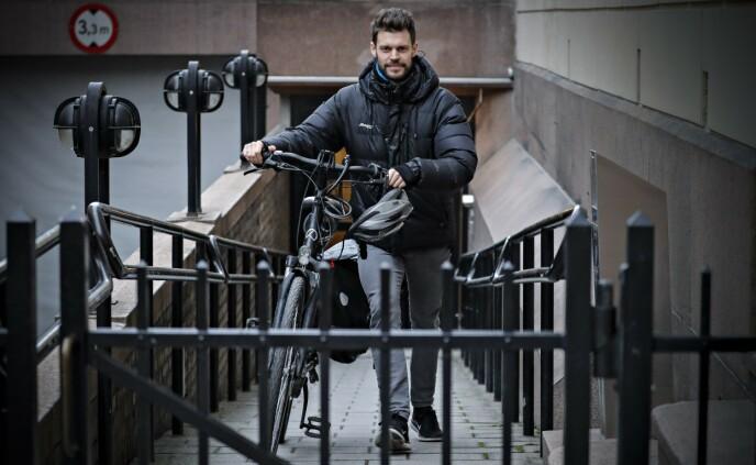 FULL STOPP: Rødt-leder Bjørnar Moxnes vil stanse alle pågående vindkraftutbygginger. Foto: Bjørn Langsem / Dagbladet