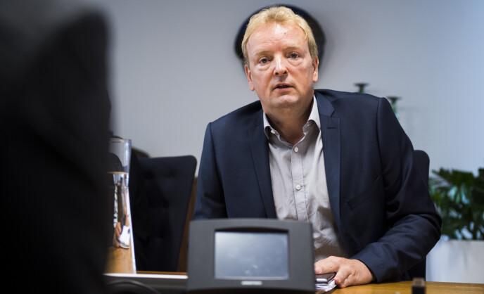 SKYLDA: Terje Halleland (Frp) mener Senterpartiet har skylda for at norsk natur bygges ned hver dag. Foto: Jon Olav Nesvold / NTB