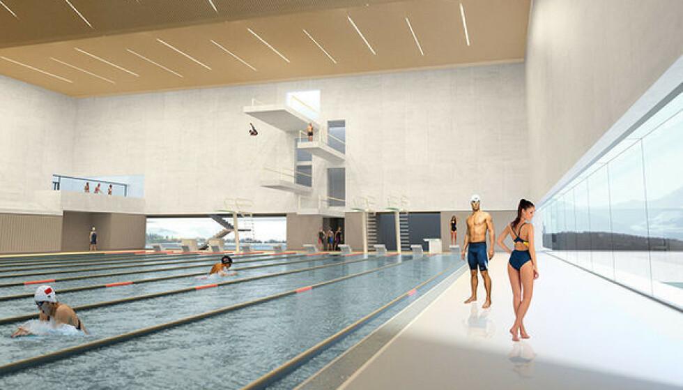 IKKE EGNET FOR SEGREGERT SVØMMING: Alnor har i år søkt om kommunale midler for å arrangere kjønnsdelte svømmekurs i Tromsø-badet. Ilustrasjon: Tromsø kommune