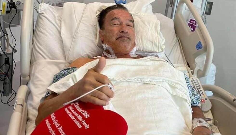 GIKK BRA: Arnold Schwarzenegger har byttet en hjerteklaff. Foto: Privat