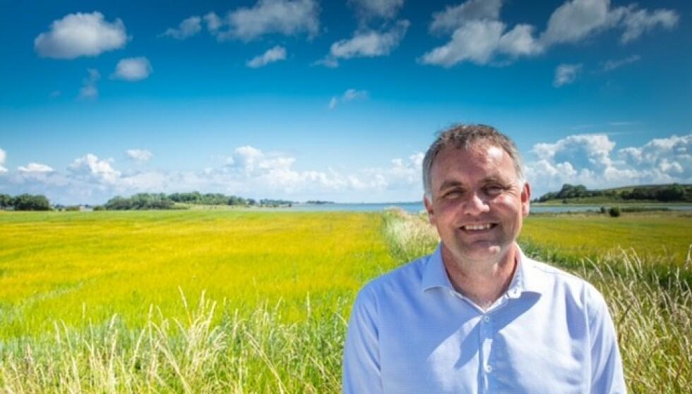 «HVIT» KOMMUNE: Samsø, der Marcel Meijer er borgermester. Foto: Privat