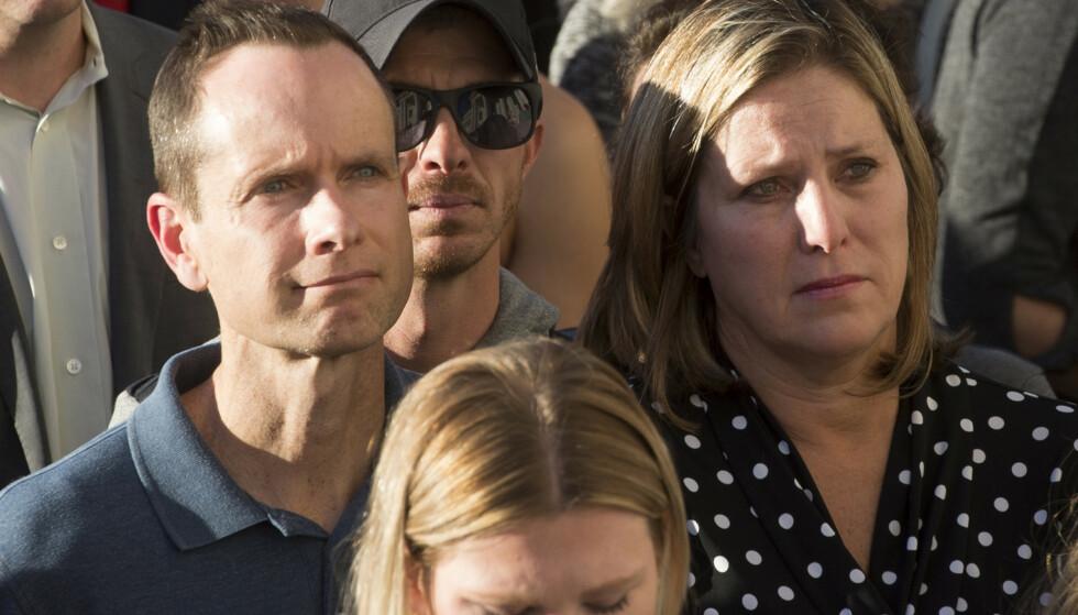 MISTET DATTEREN: Matt and Jill McCluskey mistet sin datter. Hun ble bare 21 år gammel. Foto: Jeremy Harmon / The Salt Lake Tribune via AP / NTB