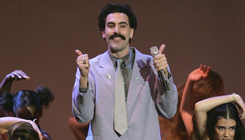 Sacha Baron Cohen spiller Borat Sagdiyev igjen. Foto: AP