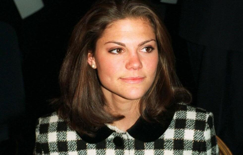 SYK: For 23 år siden måtte kronprinsesse Victoria rømme til USA for å få hjelp til spiseforstyrrelsen. Her avbildet i 1997. Foto: Pressens Bild / NTB