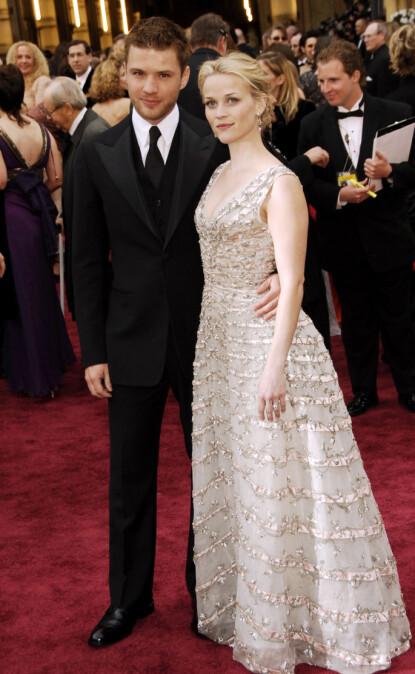 DEN GANG DA: Ryan og Reese var blant Hollywoods hotteste par i sin tid. Her sammen i 2006 - året de gikk hver til sitt. Foto: Dan Steinberg / Bei / REX / Shutterstock / NTB
