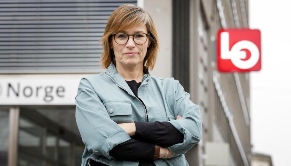 LO-TOPP: Sterke krefter jobber for at fagbevegelsen skal være representert på sikker plass på stortingslista med den tidligere LO-toppen Trine Lise Sundnes som sin kandidat. Foto: Gorm Kallestad / NTB