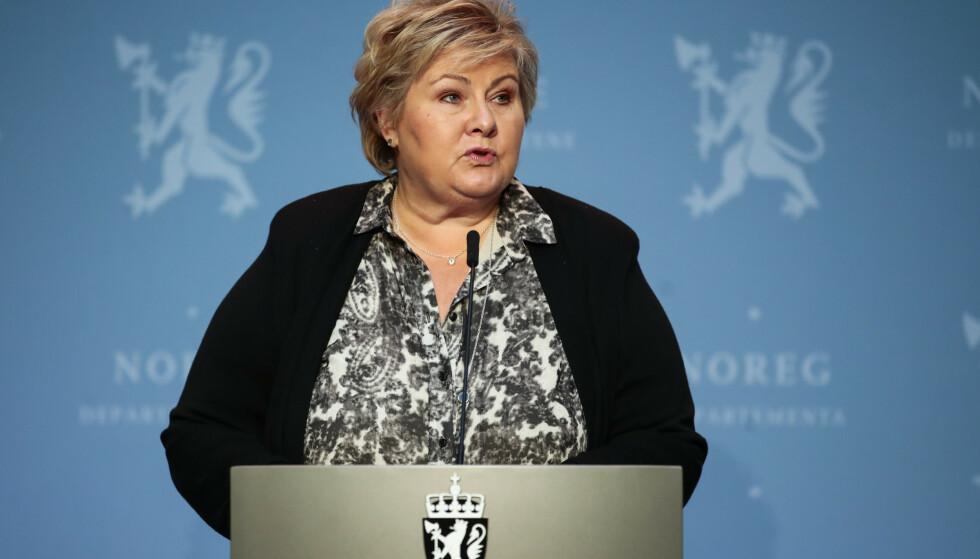 BØR INVOLVERE STORTINGET: Praksisen kan endres før loven. Det bør Erna Solberg gjøre umiddelbart. Foto: Jil Yngland / NTB