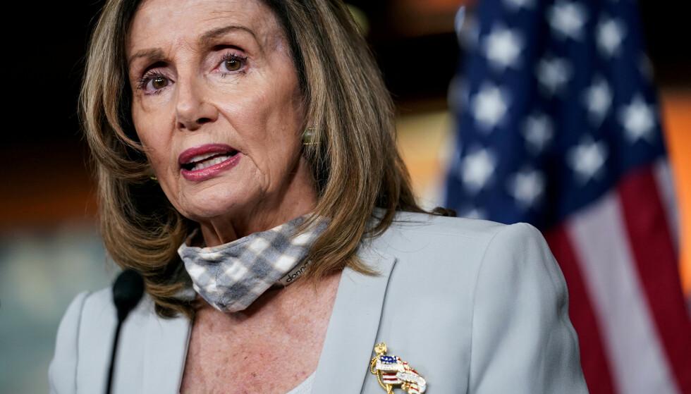 DEMOKRAT: Leder av Representantenes hus, Nancy Pelosi. Foto: REUTERS/ NTB