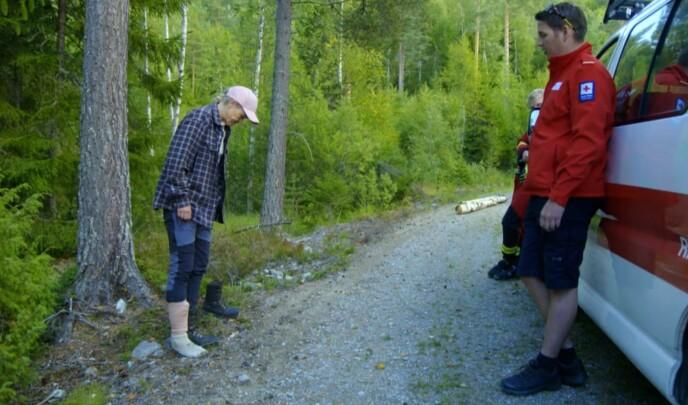 KVALM: Deltakeren sleit med å tråkke ned på beinet og skjønte at noe var galt. Foto: TV 2