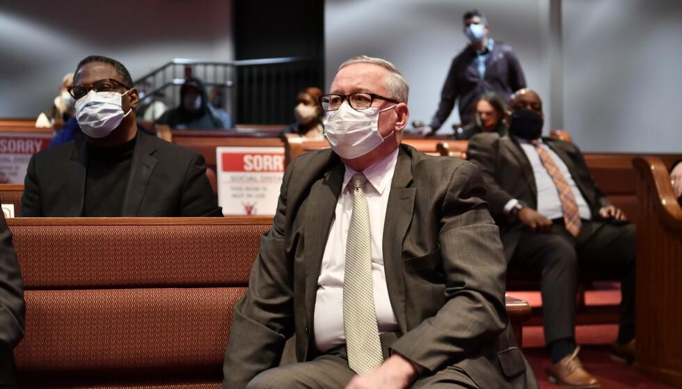 KNUT: Philadelphia-borgermester James F. Kenney fortalte at han følte seg knust på vegne av familien som hadde mistet Walter Wallace. Foto: Trym Mogen / Dagbladet