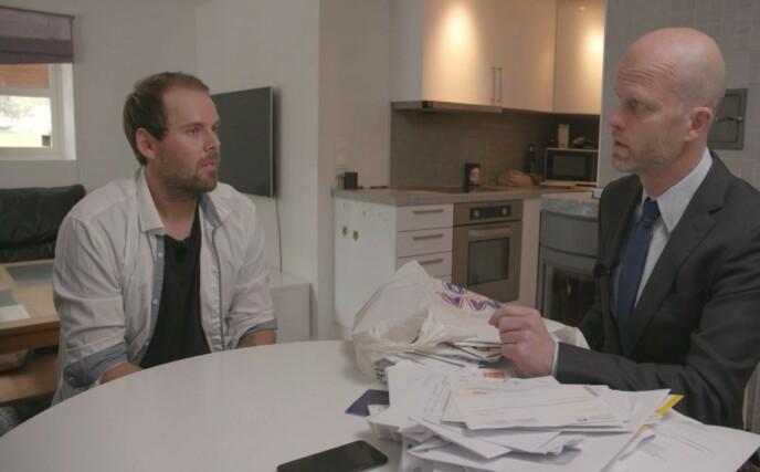OPPGITT: Hallgeir Kvadsheim legger ikke skjul på at han ble svært oppgitt i dagens episode. Foto: TV3