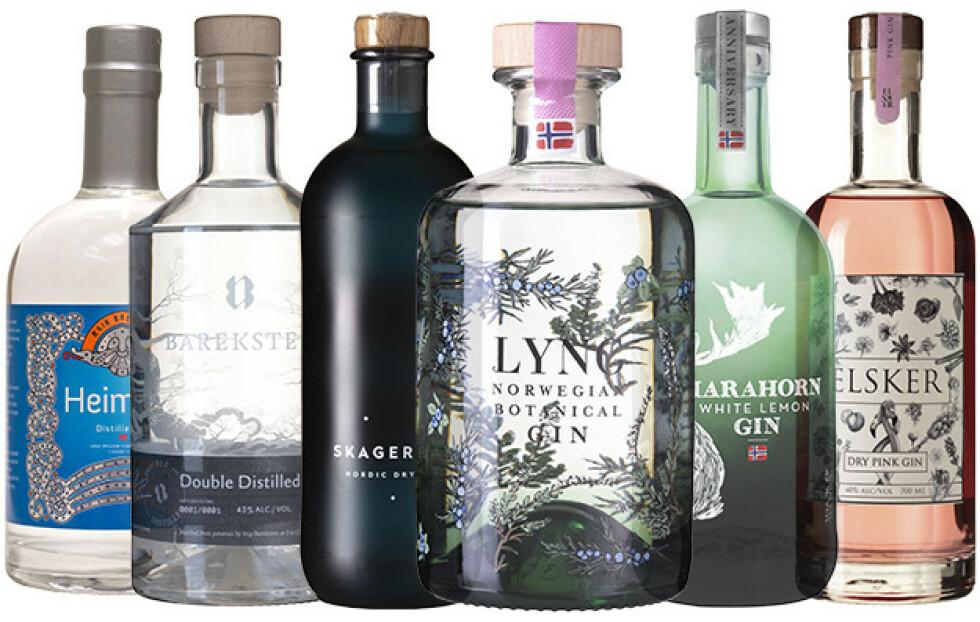 MADE IN NORWAY: En rekke egenartede og spennende utgaver norsk gin av topp kvalitet er nå å få tak i på Vinmonopolet.
