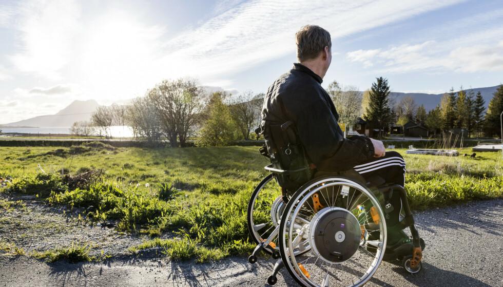 FULL FART: Fartsgrensen for elektriske rullestoler økes etter blant annet en underskriftskampanje for å få den økt.