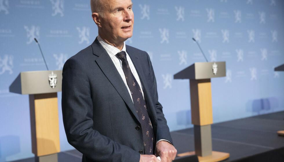 Første uke i november starter utprøvingen av de nye hurtigtestene for korona, opplyste Helsedirektør Bjørn Guldvog onsdag. Foto: Terje Bendiksby / NTB